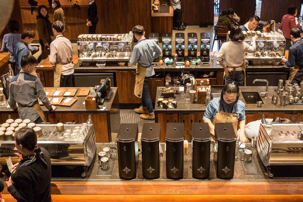 Shanghai Starbucks Roastery.  Photo credit: Moody Man.