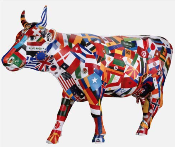 Cultural Cow Crossing.   Photo credit: Cow Parade  .