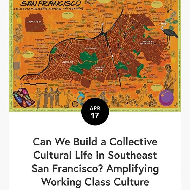 Artists Kate Connell and Oscar Melara of @bookandwheel shared their inspiring story of starting a grassroots cultural movement in Portola #SF - Click the link in our bio! #cities #neighborhoods #art #culture #bayarea