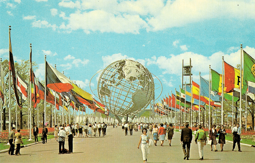 The 1964-65 World's Fair in Flushing Meadows, Queens   Photo from the Bowery Boys, http://www.boweryboyshistory.com