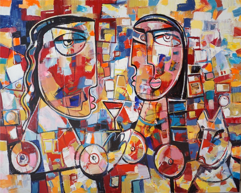 A cubism piece by  Paul Ygartua