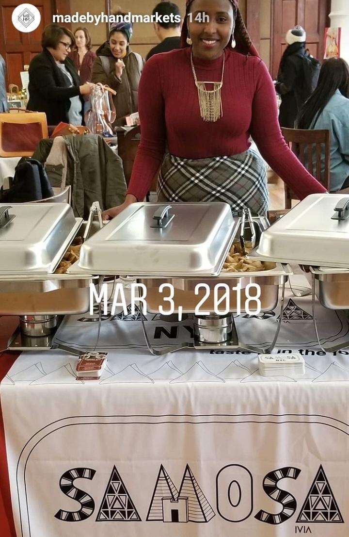 SAMOSA NYC's first market,  Madebyhandmarkets  March 3, 2018
