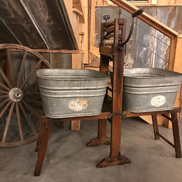 Indiana Amish country was awesome!! The auctions were so much fun!  One of my favorite purchases for the Barn, an old ringer washer.  Perfect for bottled drinks.  Can't wait till next year!!