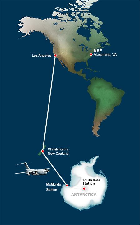 Map courtesy of the United States Antarctic Program.