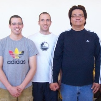 L to R: Patrick Fougere, myself, Gary Lam; 2009