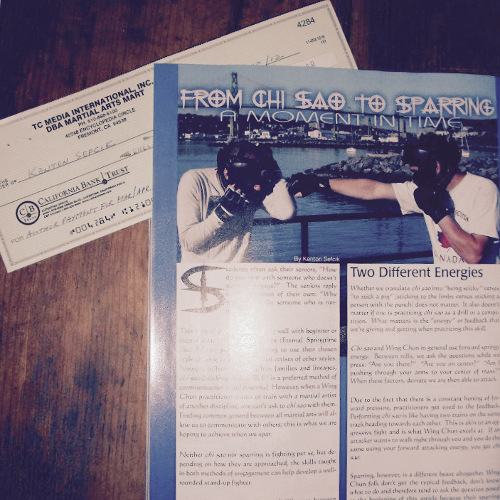 First paid publication: Kung-Fu Tai Chi Magazine - March/April 2012