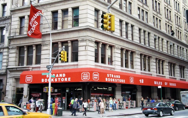UNION SQUARE:  The Strand Bookstore  located at 828 Broadway