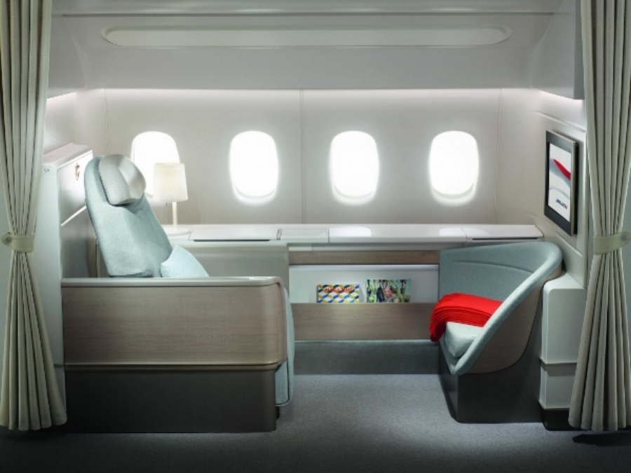 THE BEST WAY TO TRAVEL: With a full night's sleep at  La Premier on Air France .