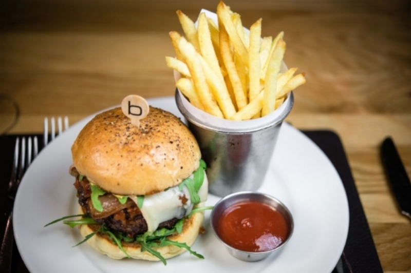 THE BEST PLACE TO FIND A BURGER:  The  BB at Bar Boulud in the Mandarin Oriental Hyde Park London .