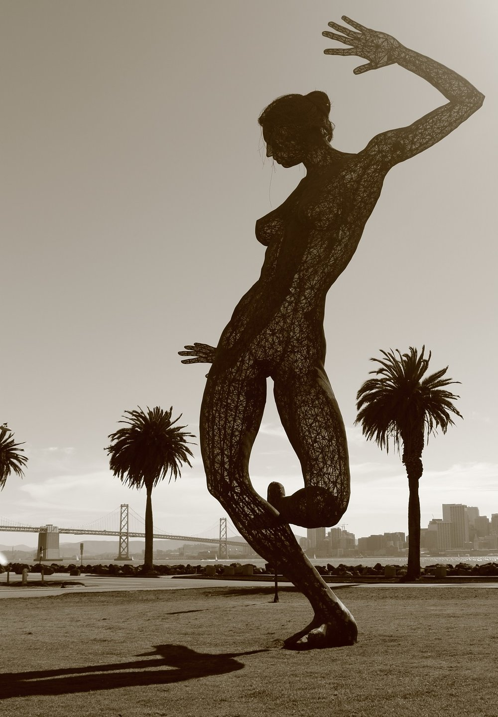 The Dancer - this sculpture is no longer at this location - she is beautiful and strong and amazing.