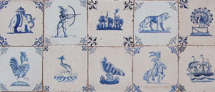 Examples of Dutch Delftware