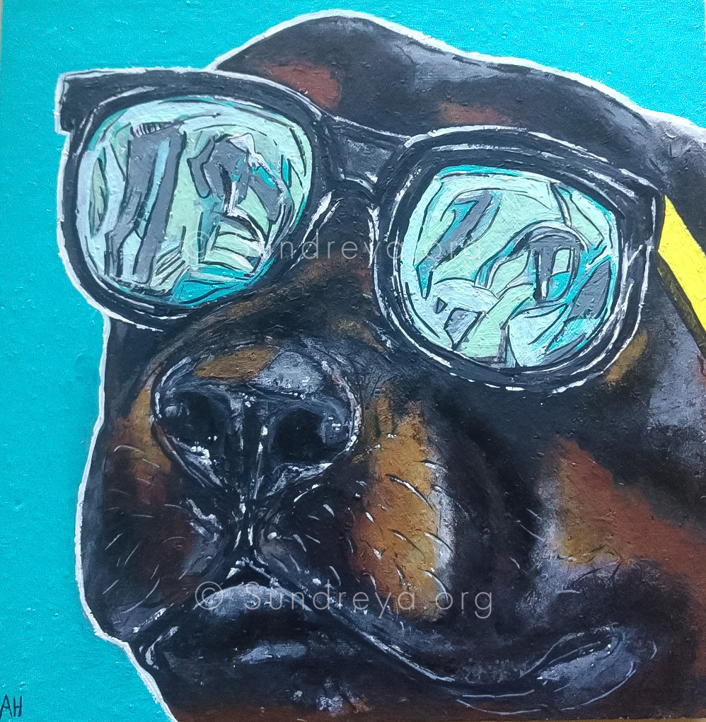 "Commissioned: Jack, acrylic on 6 x 6"" tile with gloss finish"