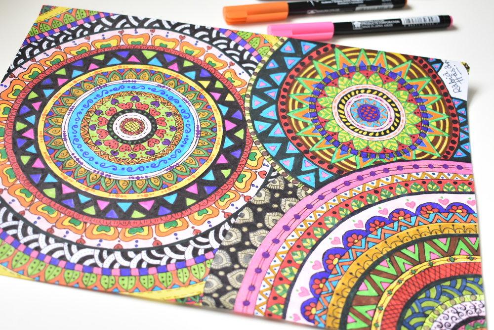 Colorful Mandala Doodle