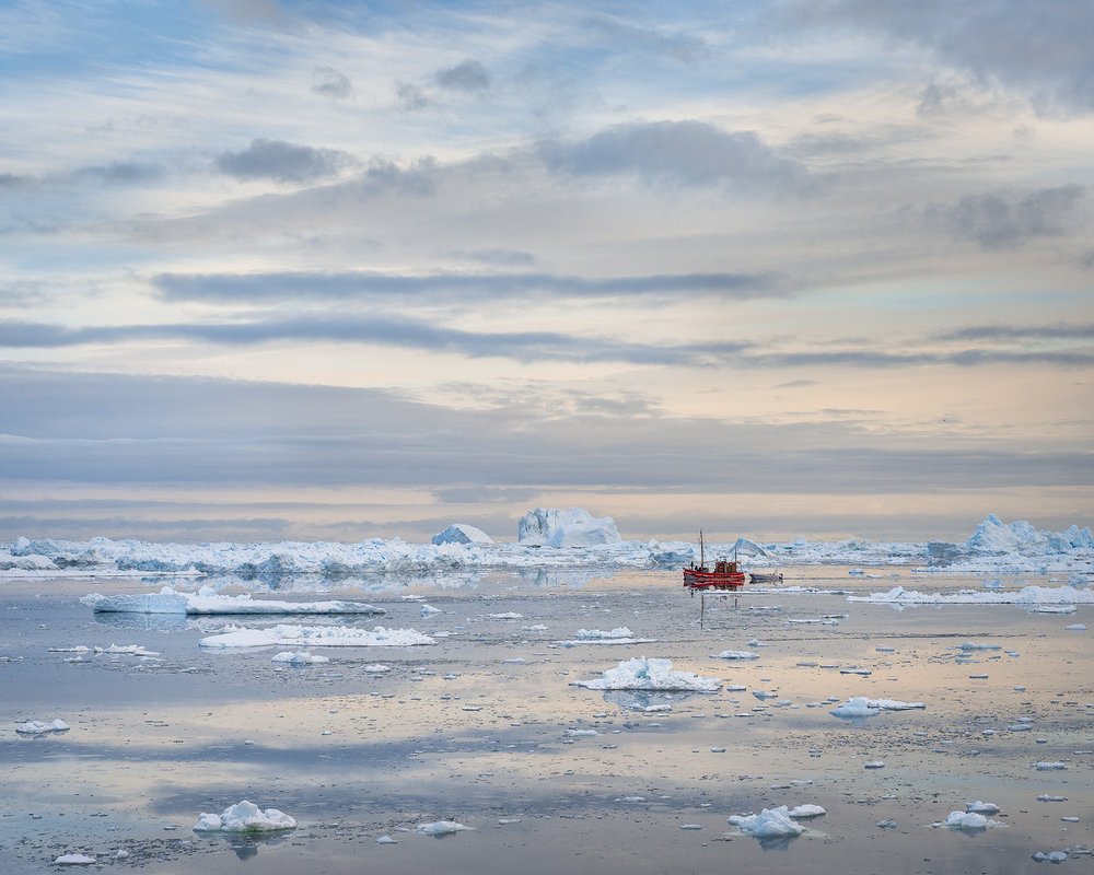 Quiet Dawn, Disko Bay, Greenland