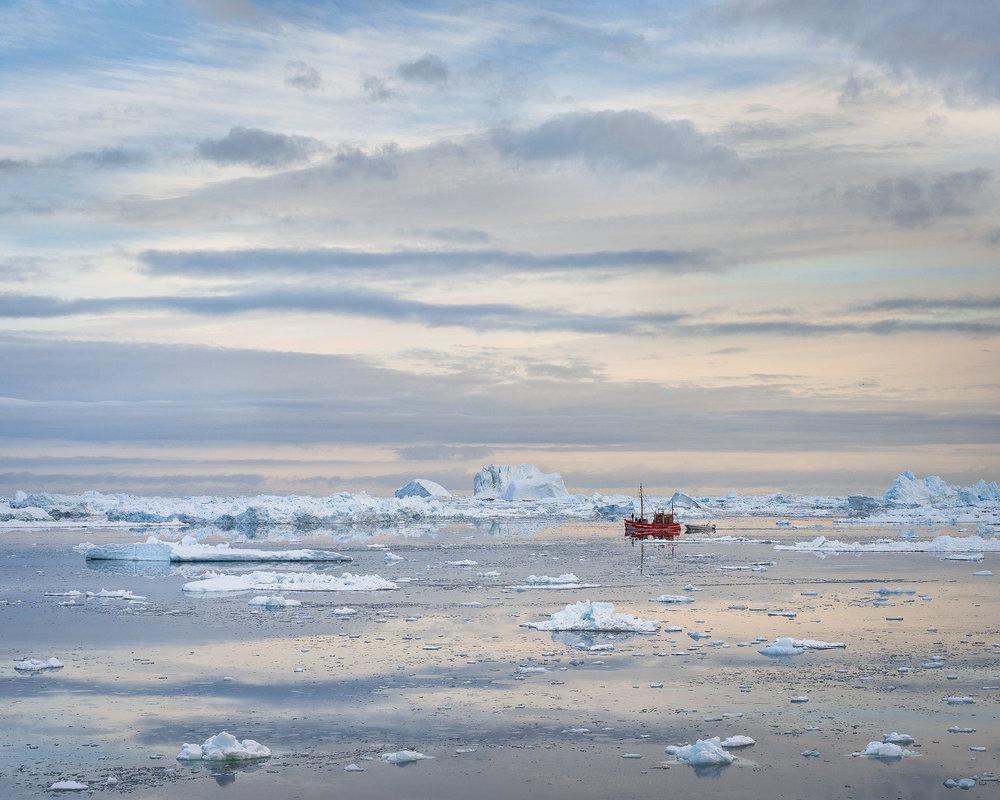 Quiet Dawn, Disko Bay, Greenland