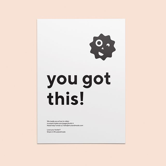 You got this!!! @mustardmade #tdkpeepshow #brandcuration #inspofinds #designspiration #collectgraphics #vsljrnl #branding #colour #graphicdesign #identity #design