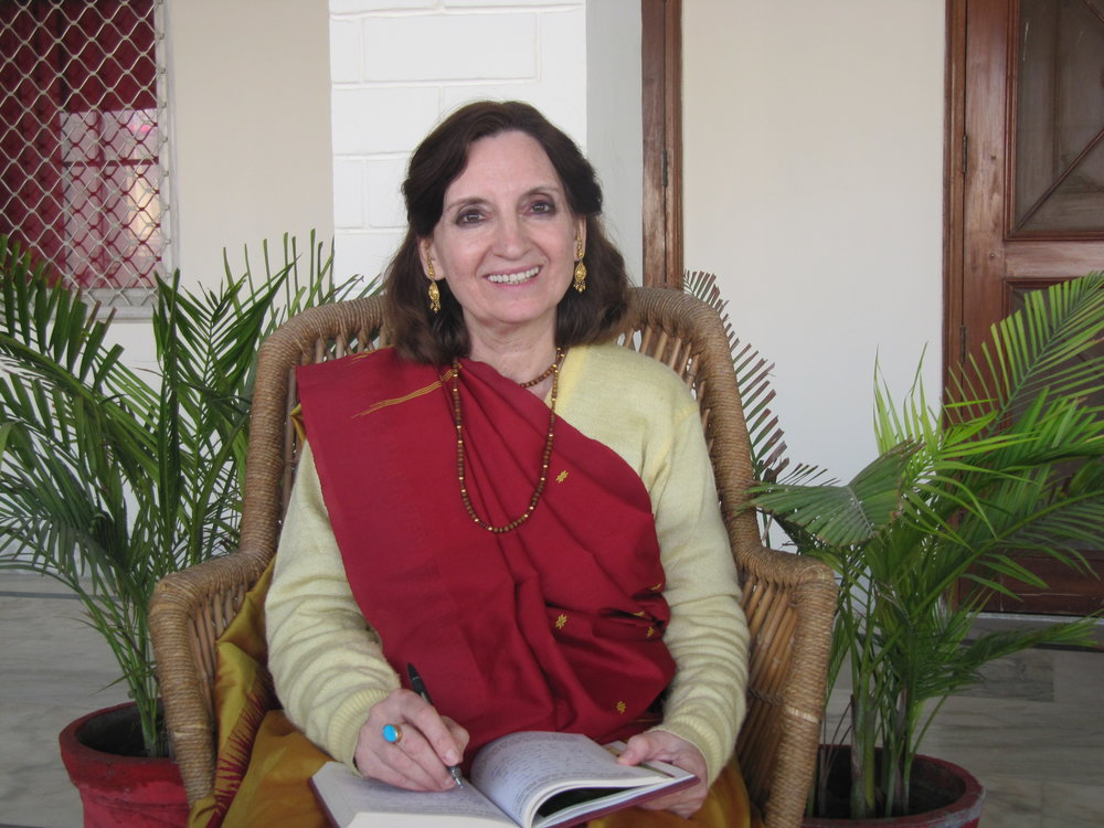 Jaya Devi  - Jaya Devi (PhD Sanskrit) is the author of From Taj to Vraj, a Feminine Spiritual Odyssey and the founder of the website http://www.yourfemininespirituality.orgBorn in Belgium, she grew up with her family until the age of twenty-three when she left on a world-wide bicycle tour to search for a deeper experience of love. She traveled to many countries but her quest remained unfulfilled until she found her spiritual home in India. In 2006 she became a disciple of Sri SatyanarayanaDasaBabaji, the founder-director of the Jiva Institute of Vaishnava Studies, Vrindavan. She then joined the ashram at the Jiva Institute where she has been the Secretary for the past ten years. She manages the ashram and library along with coordinating their seminars and cultural activities. During this time, she co-authored two booklets with her guru namely, The Yoga of Eating and Spiritual Health, which are published by Jiva Institute. She has also published two books, the Bhagavad Gita and Hitopadesha, translated from Sanskrit into her native Dutch language with Professor Winand Callewaert, D.lit.Her desire is to encourage and inspire those on a spiritual journey for which she is writing books, maintaining the website http://www.yourfemininespirituality.org and giving retreats at the Jiva Institute in Vrindavan and worldwide.