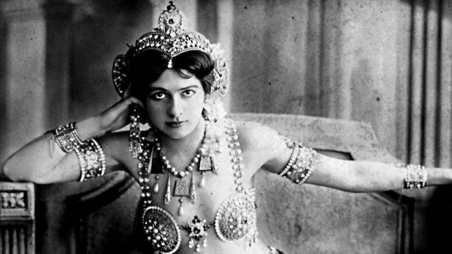 Mata Hari, a Dutch exotic dancer and courtesan who was convicted of being a  s py for  G ermany during  W orld War I.