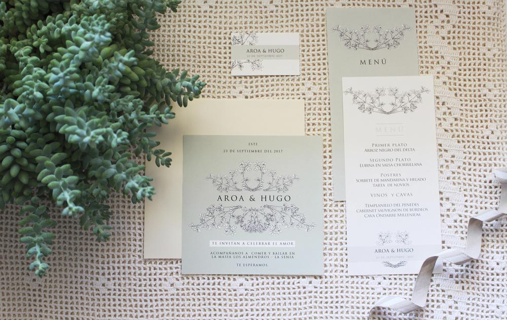 Papelería - Un mismo branding, desde la invitaciones hasta el convite. Descubre mi colección VERD