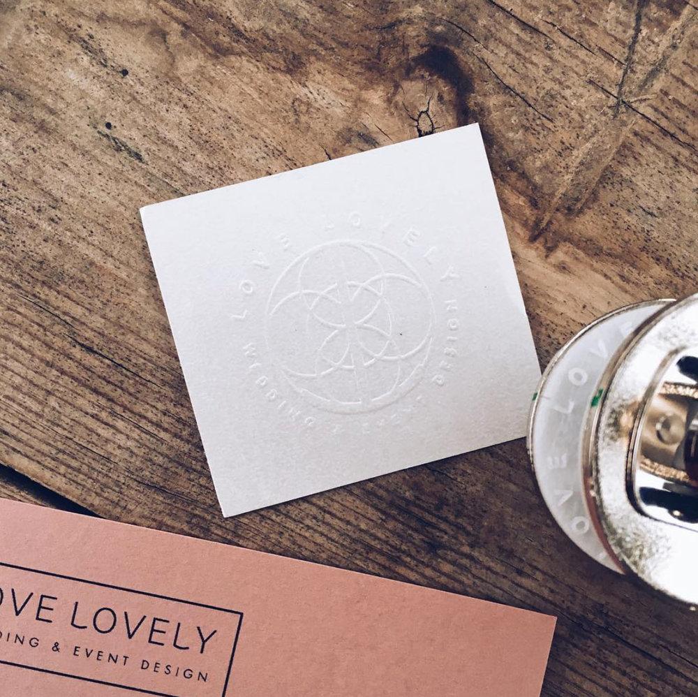 Invitación con letterpress