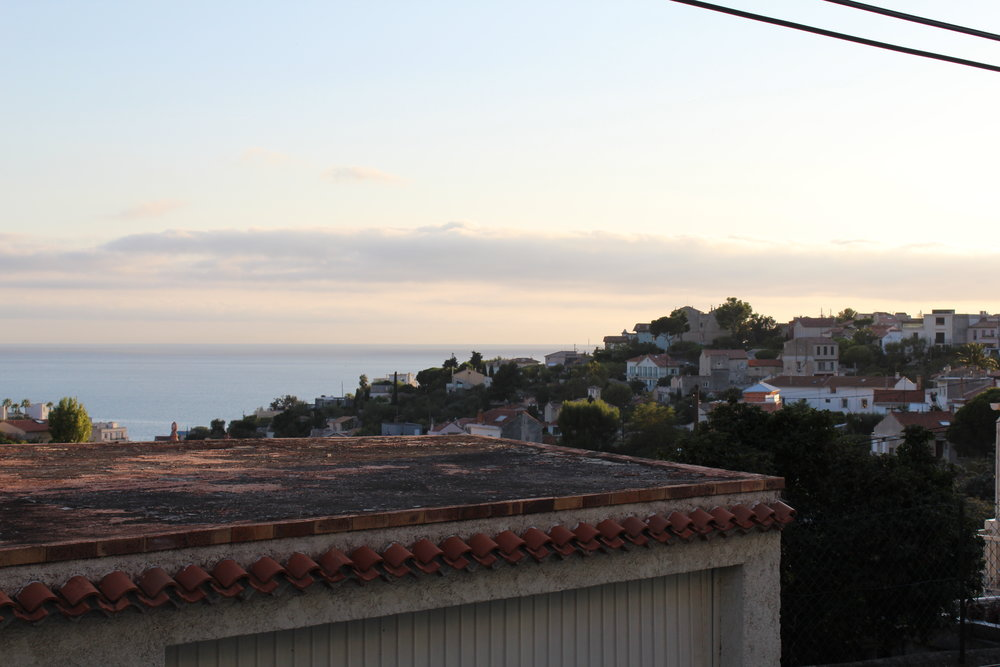 View from airbnb - It ended up not being a huge problem, because once we arrived in the Airbnb, it had one of the most incredible views I had ever seen. Beautiful sunset and incredible Mediterranean Sea