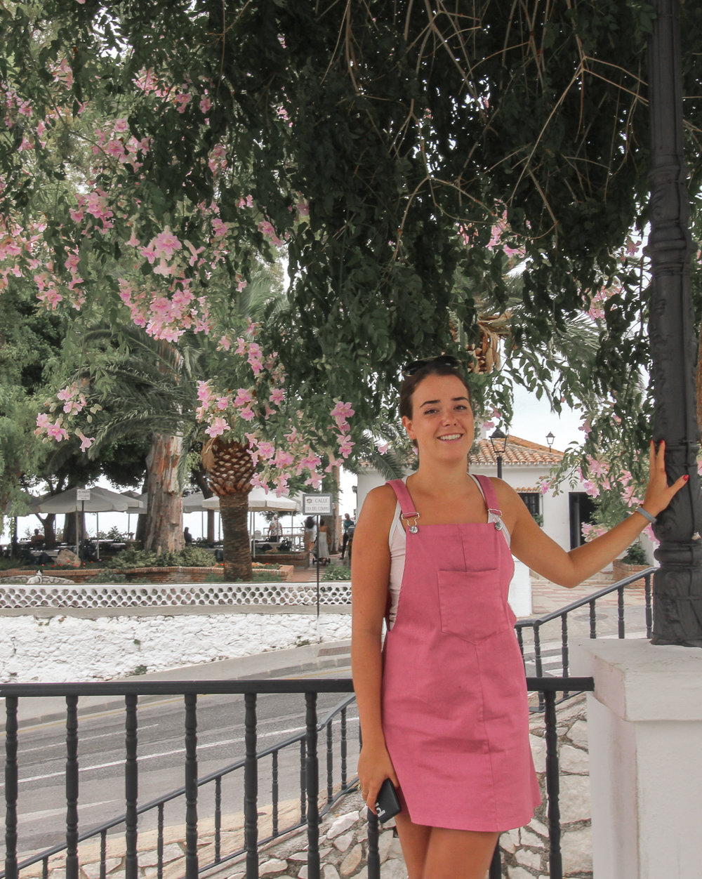 Markets - Bought this cute overall dress from a local market in Estepona, and wore it out in Mijas! The market had anything you could ever want.