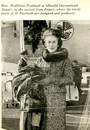 - Madeleine Porthault à son arrivée à New York en 1947Madeleine Porthault at her arrival in New York in 1947