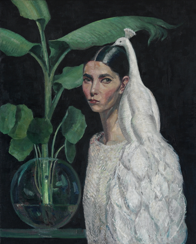 Coppersmith_Yvette_Self-portrait with Foliage_oil on linen_102cm x 82cm_2018ec.jpeg