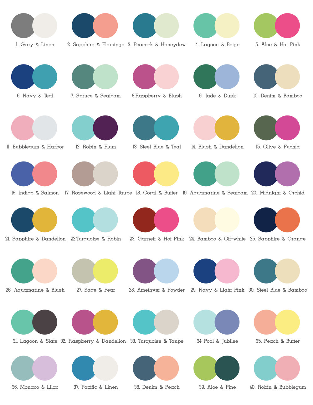Color Combinations — My Baby Business Card