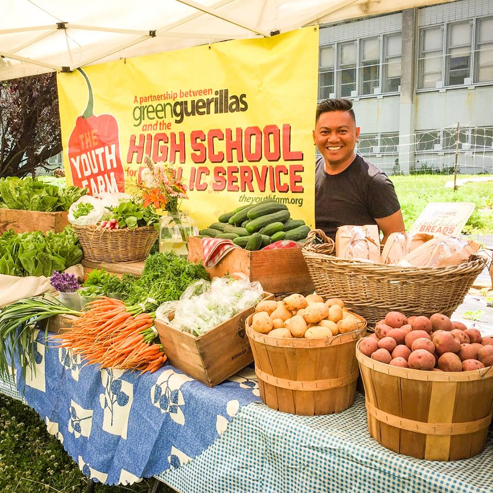 Shout out to Jade of The NYC Farm School Intensive Program and the Wednesday farm market they put on each week from 2:30-6:30pm with The Youth Farm to provide the freshest ingredients grown by them!!!