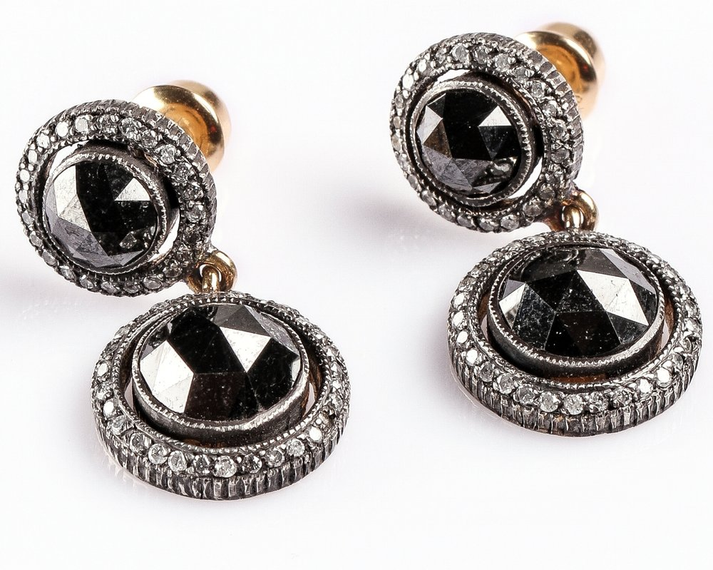 Black RC Double Earrings