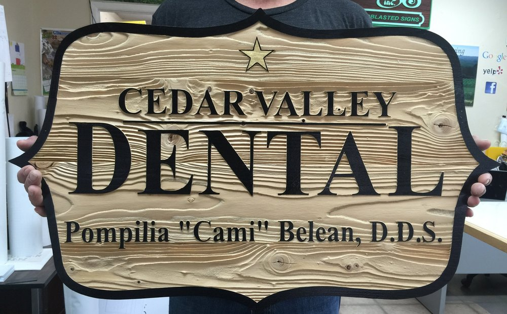 Cedar Valley Sandblasted sign.JPG