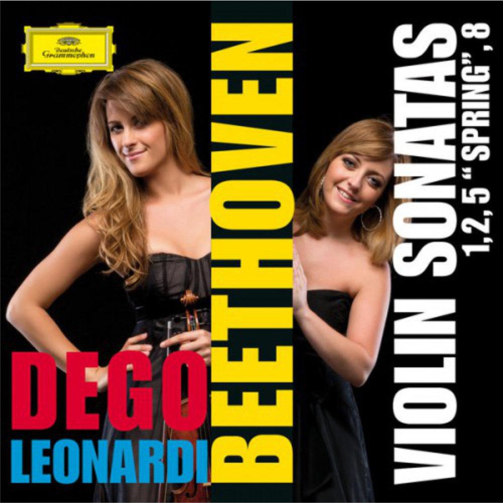 """BEETHOVEN Violin Sonatas 1-2-5 """"Spring""""-8  Francesca Dego, violin Francesca Leonardi, piano 2014 Deutsche Grammophon 481 1407 GH DDD CD"""