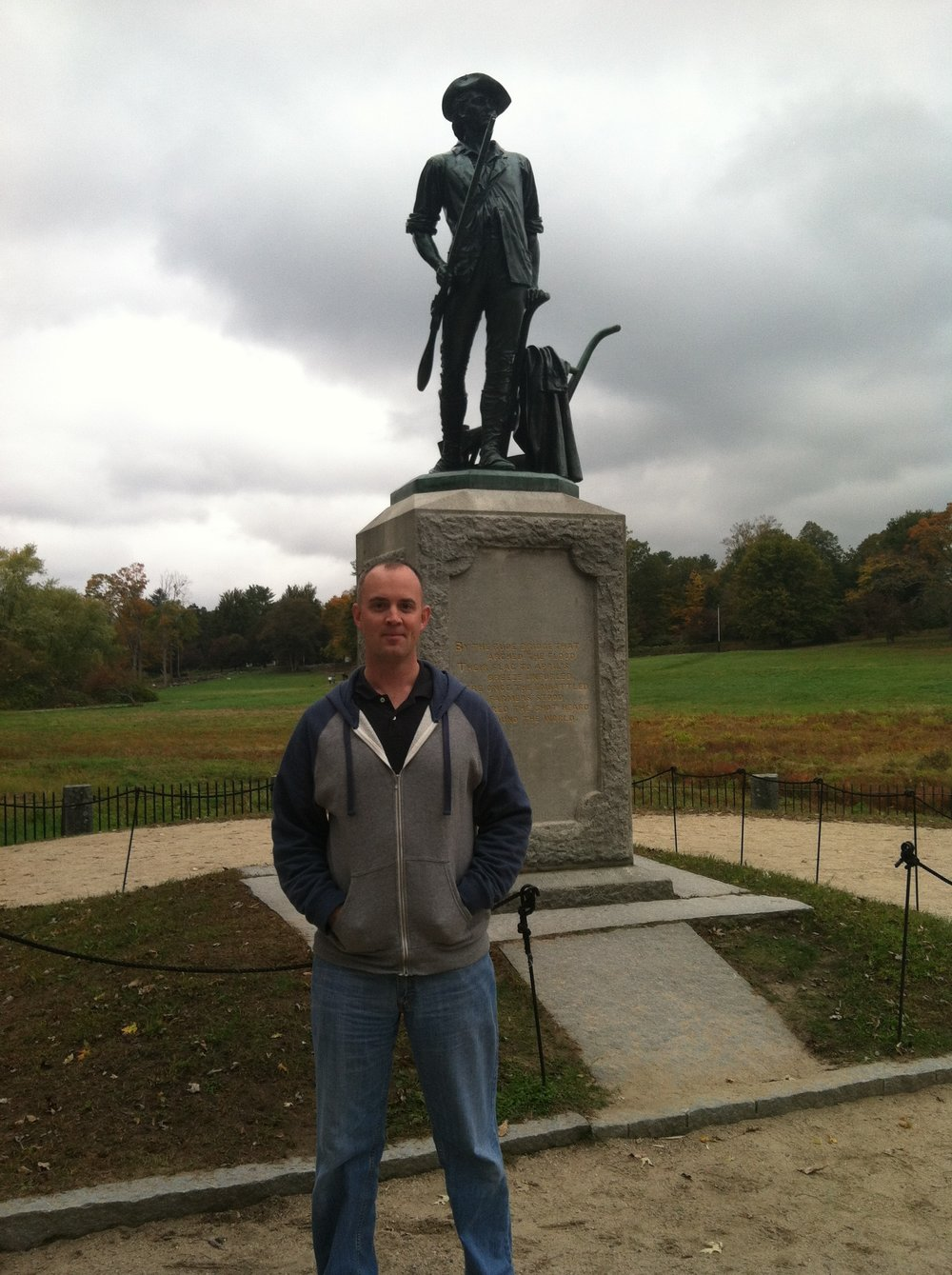 Me in Concord, Massachusetts at Minuteman National Park, 2013