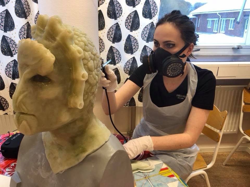 AIRBRUSHING - The final stage of the workshop, the airbrushing and colouring of your mask! This is where you work on the final details of your vision, using an airbrush to highlight your piece with silicone colors to make it come alive!
