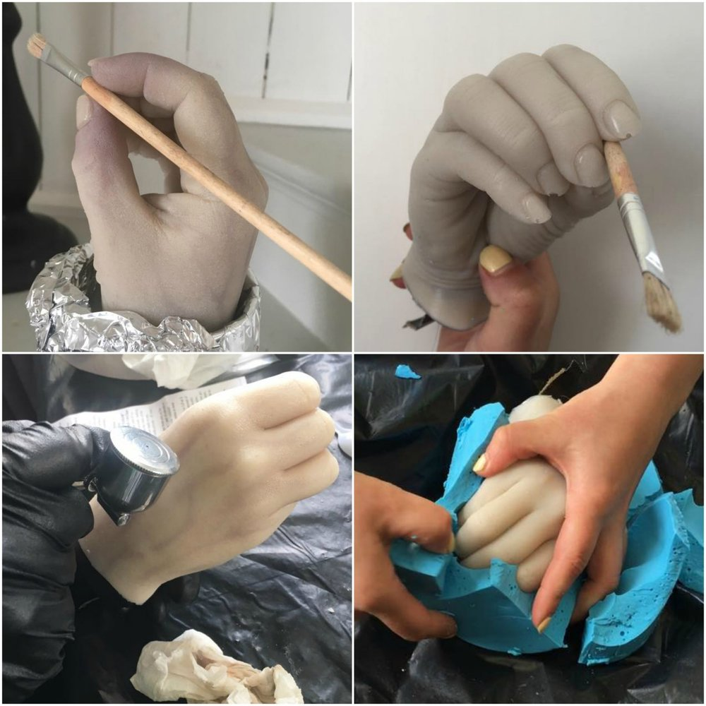 BODY PART PROP MAKING 3-DAY WORKSHOP - If you're interested in this workshop contact us and we'll send you information as soon as the workshop is released!