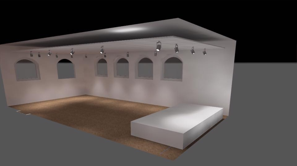 The 3D art drawing of our Art Gallery / event and concert venue that is currently being renovated