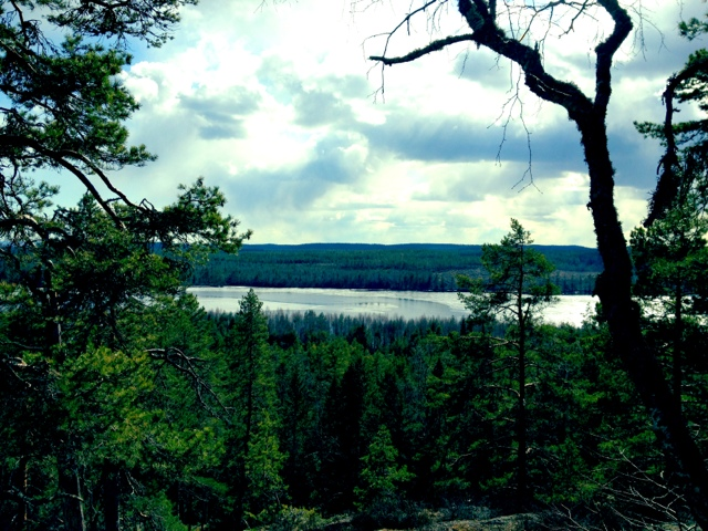 """Visit the beautiful """"hidden pearl"""" lake Lunnsjön nearby where Petra and Fredrik lives!"""