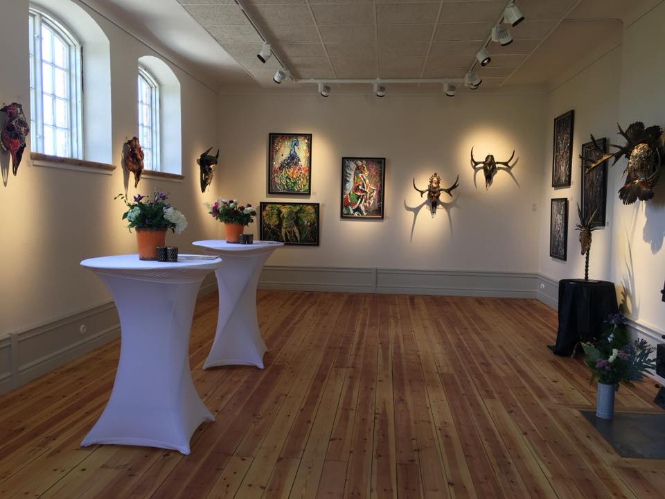 Helsinglight Art Gallery available to use during your stay at our art residency