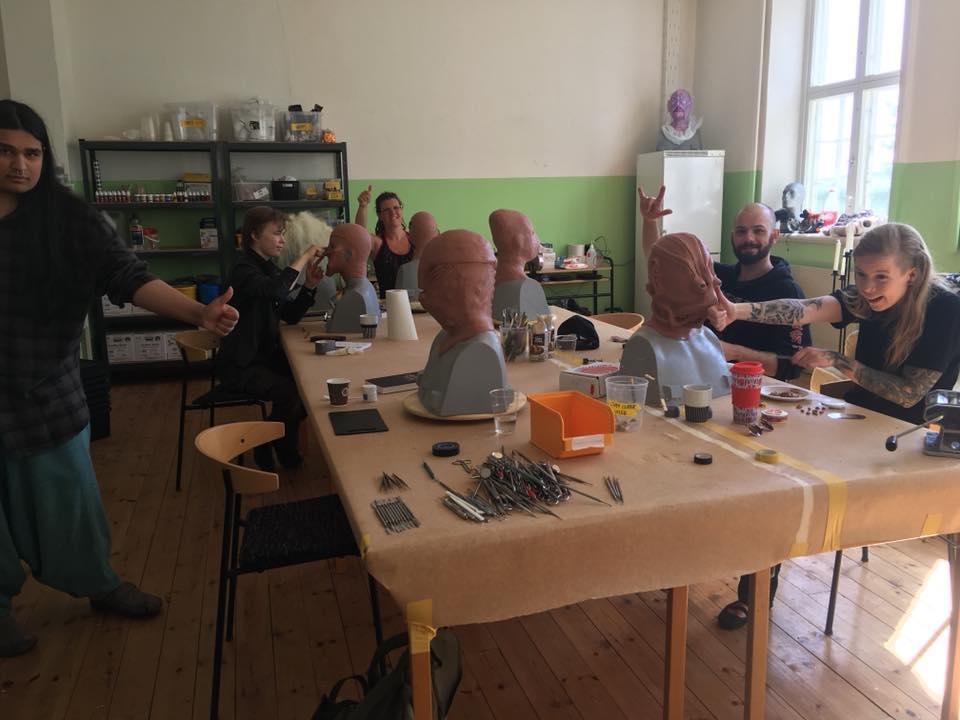 Creative awesomeness at Helsinglight FX Mask Making Workshop!