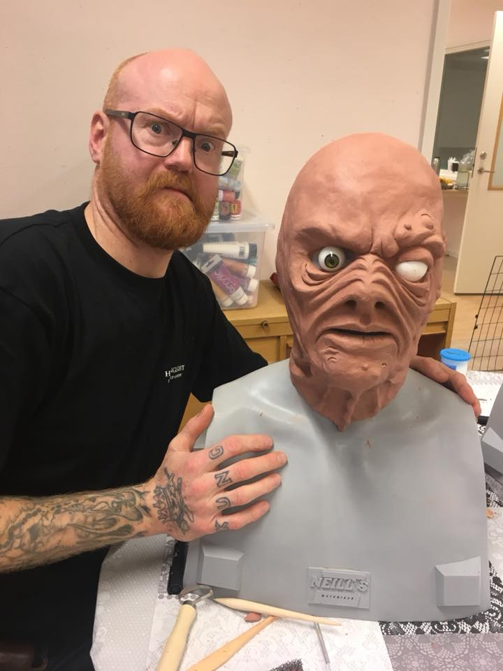 """Kent Klint Engman, part of Helsinglight Team will be joining us at the stand and work on sculpting a monster in clay! You will also be intimated to do a bit of sculpting yourself at our stand as we invite you all to join forces and sculpt a """"Nordsken creature"""" together during this event!"""