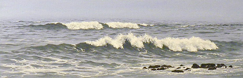 Misty Surf, 10x30