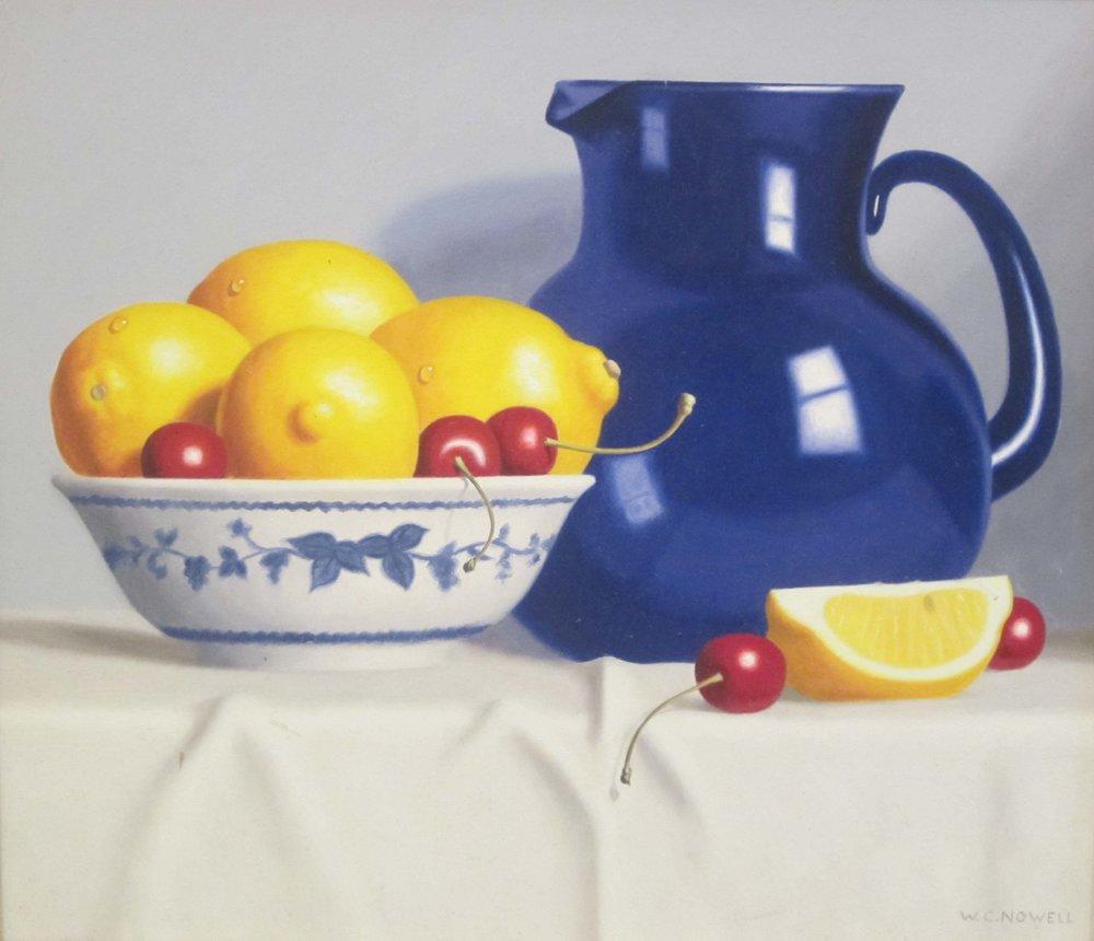 Cobalt with Lemons, 12x14