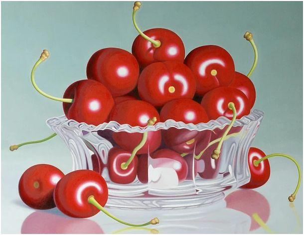 Cherries in Crystal, 28x36