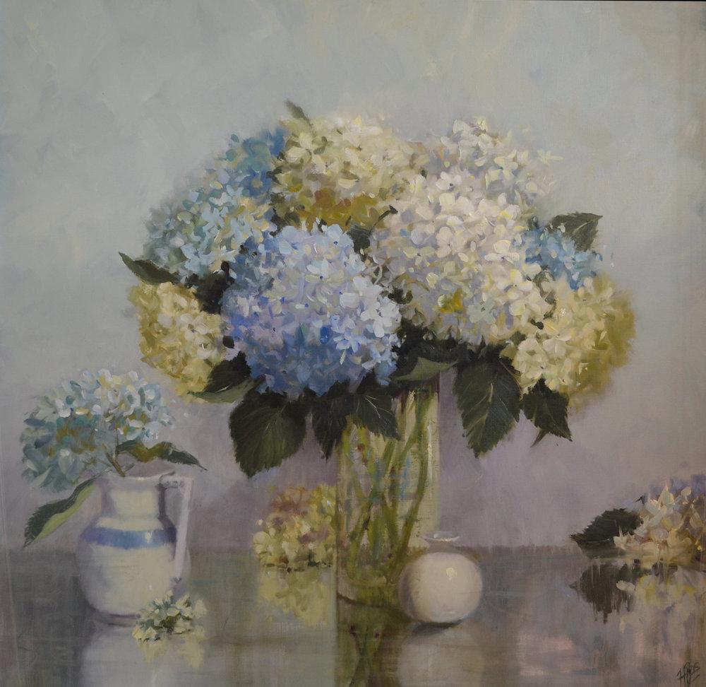 Fresh Summer Hydrangea, 30x30