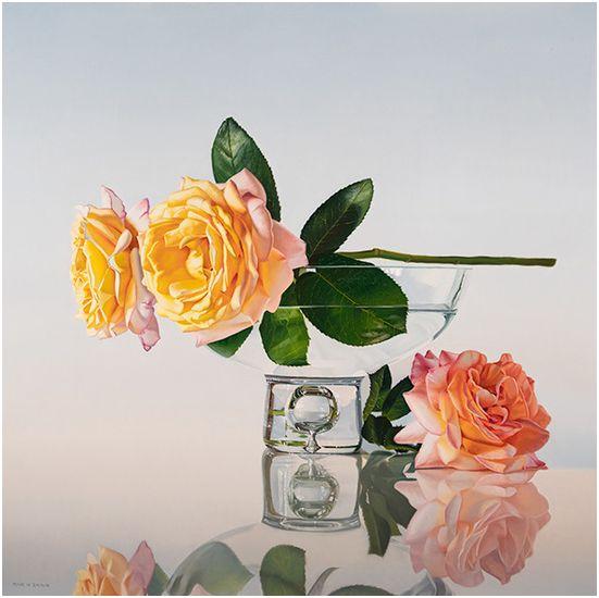 Roses on Bowl, 30x30
