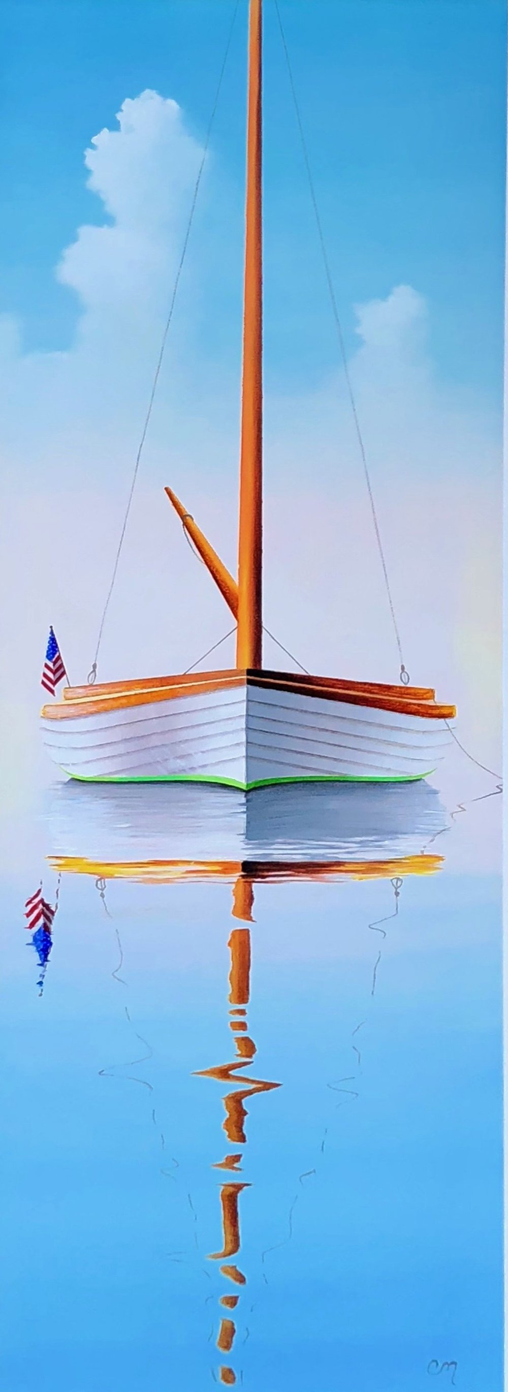 White Catboat, 36x12