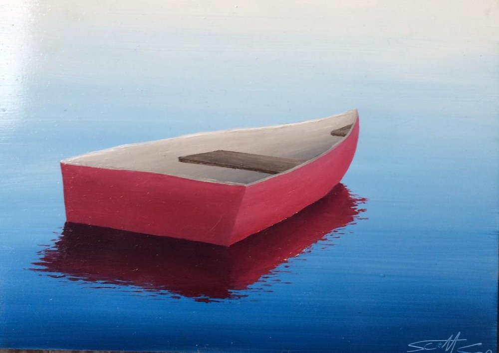 Red Rowboat, 5x7