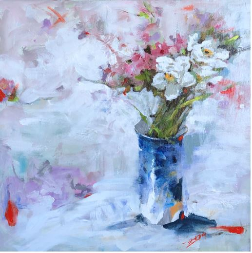 Shades of Spring II, 20x20