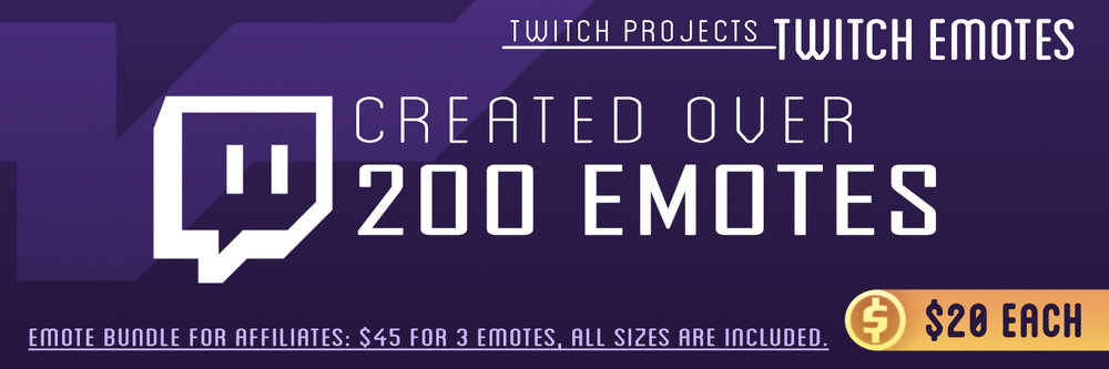 Any Emote bundle that has  Three or More  emotes will cost only $15 each.  (Example: Four emotes will equal $60.)